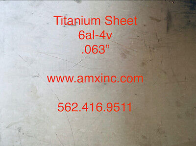 Titanium Sheet 6al-4v .063 X 12 X 12