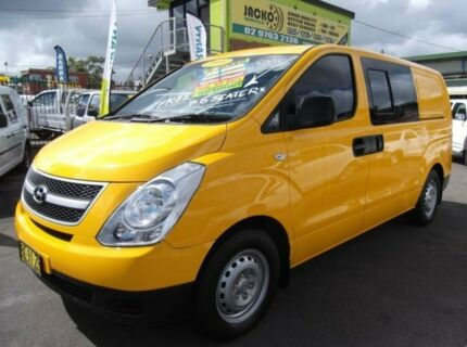 2009 Hyundai iLOAD TQ Crew Yellow 5 Speed Manual Van Homebush Strathfield Area Preview