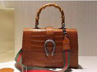 Croc Brown Gucci bag for sale