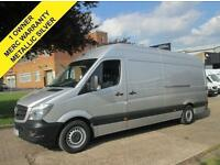 2014 64 MERCEDES SPRINTER 313CDI LWB HIGH ROOF. METALLIC SILVER. ONLY 62K. FSH.