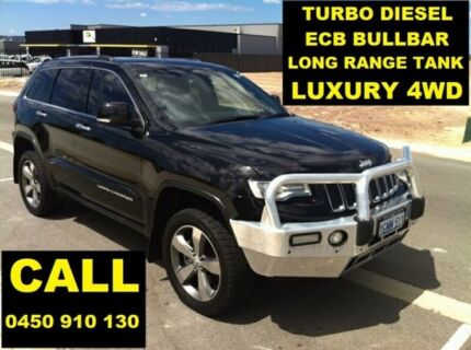 2014 Jeep Grand Cherokee WK MY14 Limited (4x4) Brilliant Black 8 Speed Automatic Wagon