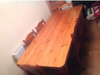 Solid Pine Welsh Dinning Table