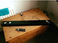 LG SOUND BAR...model:NB2530A 100wats,with remote control and wall brackets,has Bluetooth facilities.