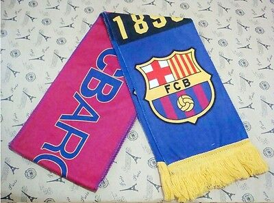 - New Barcelona Football club Soccer Scarf Neckerchief Fan Souvenir gift