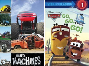 Ready to Read Level #1  - Mighty Machines & Disney Cars (2 NEW)