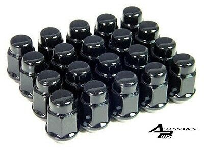 20 Pc 7/16 EARLY CHEVY BLACK ACORN LUG NUTS # AP-1902BK