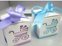 Baby shower favour boxes x10