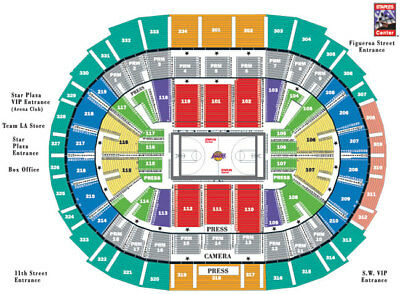 1 LA LAKERS VS WARRIORS 12/18 TICKET STUB ONLY  LOWER LEVEL(KOBE RETIREMENT )