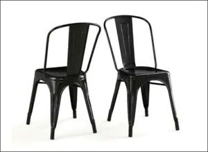New Matte Black - Metal Chairs - 30 Chairs