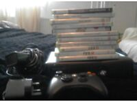 Xbox 360 250GB console with kinnect and games.