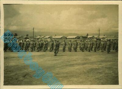 WW2 1/8 th Battalion Lancashire Fusiliers On Parade 1945 India