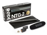 Rode NTG-2 ,short shotgun microphone as shown. Little used, in perfect condition, boxed as new .