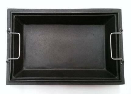 Cast Iron Baking Dish (plate) for BBQ - Heavy Duty