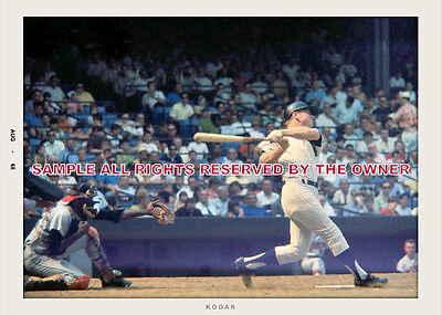 MICKEY MANTLE 60`s N.Y. YANKEES UP AT THE PLATE 5x7 CL on Rummage