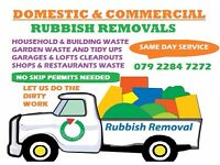 DOMESTIC & COMMERCIAL WASTE REMOVAL LONDON RUBBISH DUMP JUNK WASTE HOUSE CLEARANCE, MAN AND VAN HIRE