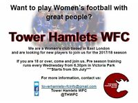 Join Tower Hamlets Women's Football Club – Ladies/Women's players