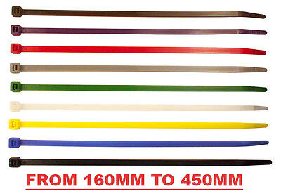 Coloured Cable Ties 450mm Long Zip Ties Cable Tidy