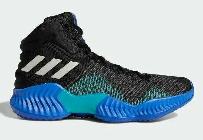 NEW Men's Adidas Pro Bounce Mid 2018 Black/Grey/Green Basketball Shoes AH2657