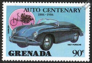 1957-PORSCHE-356-Cabriolet-MINT-CAR-STAMP-1986-Grenada