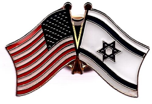 LOT OF 12 Israel Friendship Flag Lapel Pins - Israeli Crossed Flag Pin