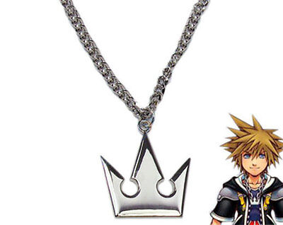 Kingdom Hearts Sora Halloween Cosplay (New Kingdom Hearts Sora Crown Necklace Pendant Charm Halloween Cosplay Props)