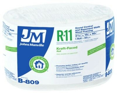 Johns Manville 90003737 Kraft-faced R-11 Fiberglass Insulation Roll 15 X 40