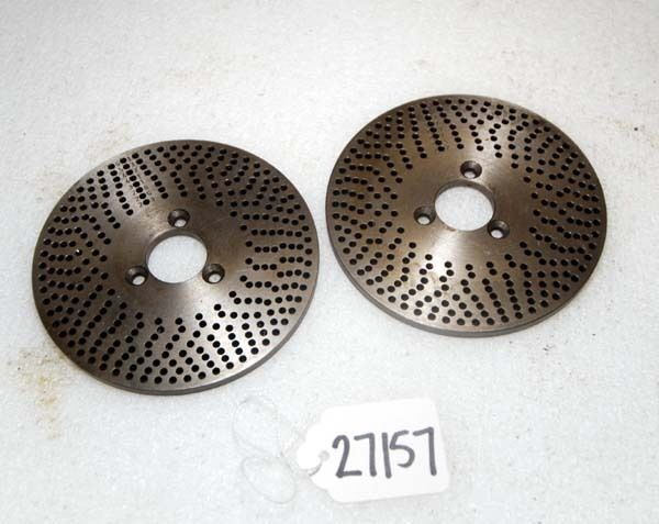 One Lot of 2 Index Plates 4 5/8 in. (Inv.27157)