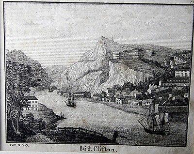 Stahlstich Clifton um 1850 (25863)