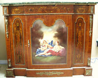 Louis Style Painted Panel Commode