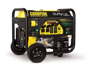 9kw Champion Dual Fuel portable Generator with electric start