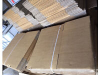 400 x FLAT PACKED CARDBOARD BOXES - BRAND NEW -