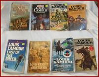 Louis L'Amour Western Pocket Novels ---Lot of 8 Books