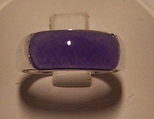 New genuine Lavender Jade 9 x 12 mm saddle ring set in sterling silver (925)
