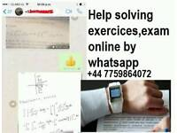 we solve tasks, exams, tests work by whatsapp, mathematics, chemical physics, statistics,