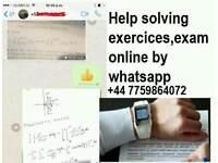 SOLVE exercices,assignment, problem list,EXAM,TEST; HOMEWORK MATH STATISTICS SPSS PHYSICAL