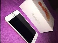 IPhone 6s rose gold 64gb on 02 with box and accessories