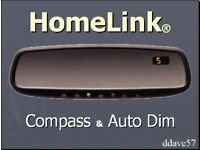 Gentex Auto-Dim Universal Rearview Mirror w// HomeLink 4 50-GENK40A4