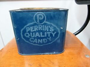 Antique Perrins's Quality Candy Tin from London Ontario, c1920s London Ontario image 1