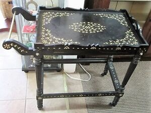 Vintage Mother of Pearl Inlay Tea Cart with Removable Tray London Ontario image 1