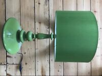 HABITAT 1 Lamp and 2 Identical Drum Lampshades (Green) Measurements in Description for sale  Brighton, East Sussex