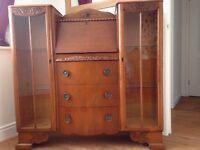 Vintage Bureau Writing Desk/Cabinet
