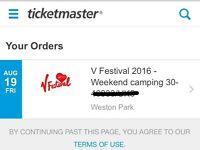 V Festival Weekend Camping Ticket (Weston Park)