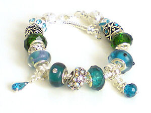 FAB SPARKLE Complete Snake Charm Bracelets ~ Dangle Spacer Bling & Enamel Beads