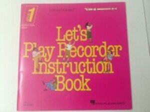 LET'S PLAY RECORDER – INSTRUCTION BOOK