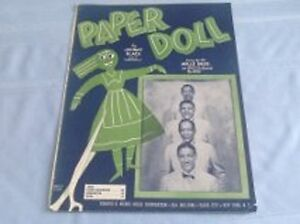 PAPER DOLL - (MILLS BROTHERS)- SHEET MUSIC