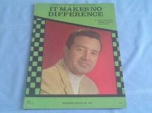IT MAKES NO DIFFERENCE - VIC DAMONE- SHEET MUSIC