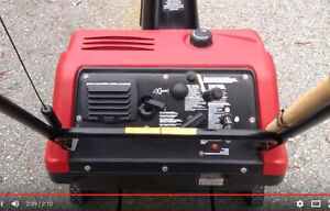 Craftsman Snowblower 5HP 22in with ad video
