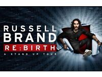 * Russell Brand - 2 Stall seats - Row F!