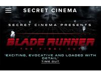 Secret Cinema - Blade Runner (Phoenix entry) for 2 people 18th May 2018