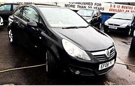 Black Vauxhall Corsa 1.4i SXi
